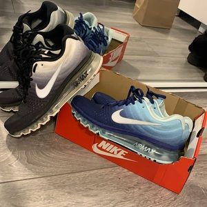 Nike air max white black and blue